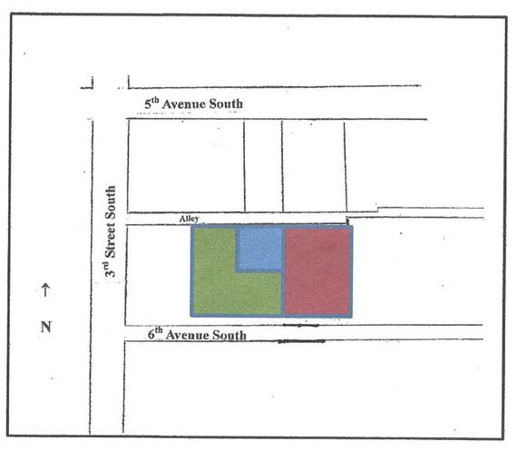 300, 340 & 350 Fifth Avenue South-Undeveloped Lots at Rear of Buildings