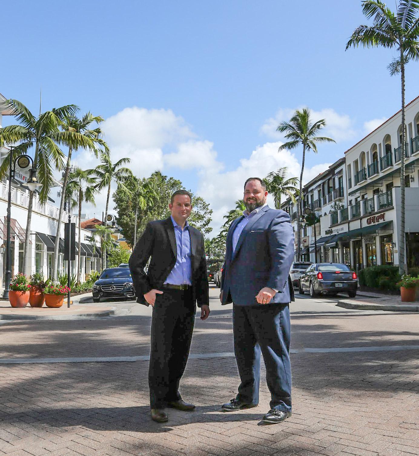 Executive Director Bruce Barone, Jr. and Board of Directors President Jeff Wynn